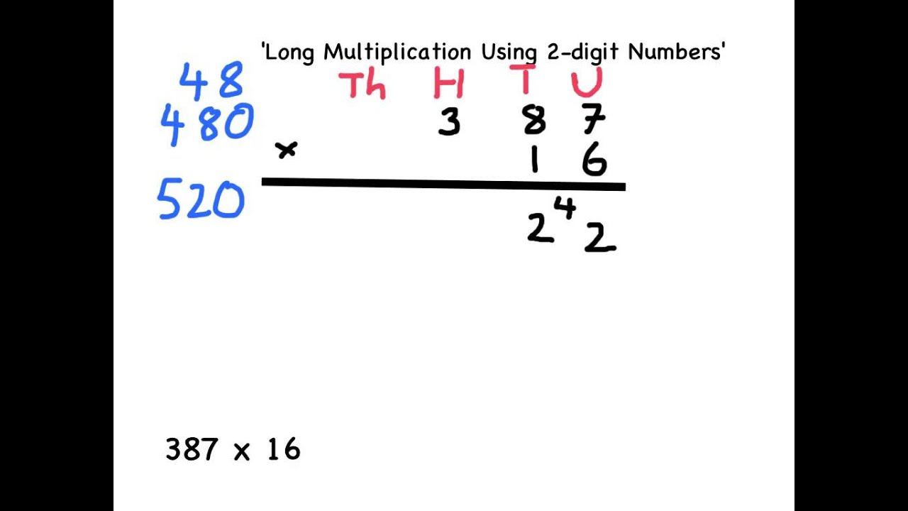 Worksheet Long Mulitplication y56 how to use long multiplication youtube multiplication