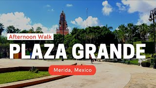 An afternoon walk around Plaza Grande in Centro - Merida, Mexico