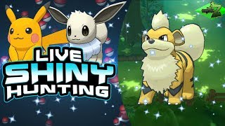 LIVE! Shiny Growlithe Hunting in Let's Go Pikachu & Let's Go Eevee