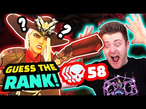 58 Kills HARD Carry?! | Overwatch GUESS THE RANK!