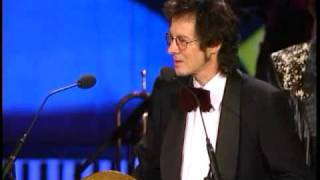 Jimi Hendrix Experience accepts award at  Rock and Roll Hall of Fame inductions 1992