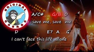 Queen - Save Me - Chords & Lyrics