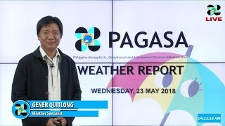 Public Weather Forecast Issued at 4:00 AM May 23, 2018