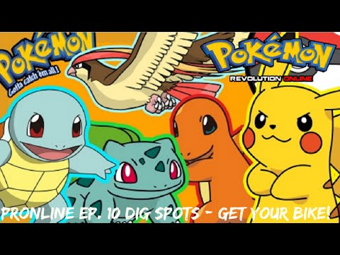 Pokemon Revolution Online - EP. 10 Dig spots/GET YOUR BIKE!!!