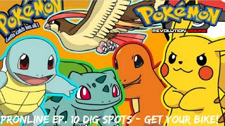 Pokemon Revolution Online - EP. 10 Dig spots/GET YOUR BIKE!!!