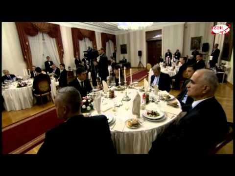 Dinner reception of Bulgarian President Rosen Plevneliev in honor of President Ilham Aliyev