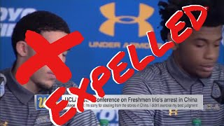 LiAngelo Ball Reaction on being Expelled and KiCk Off UCLA Team!!