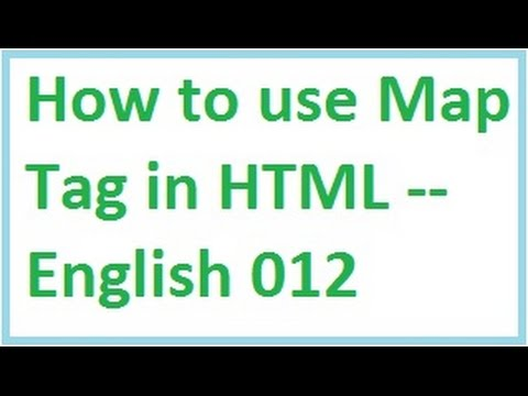 How To Use Map Tag In HTML -- English-vlr Training