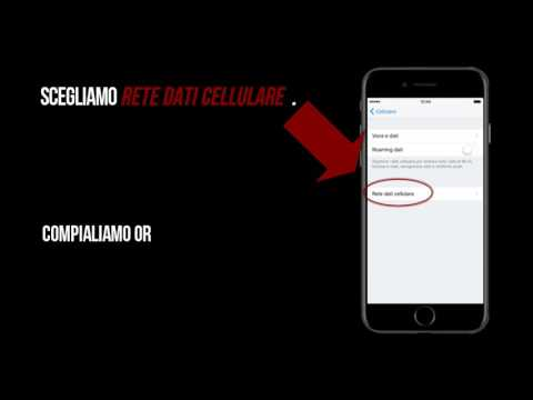 apn dati cellulare vodafone iphone 6s