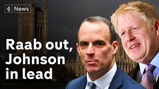 Boris Johnson wins Tory leadership second ballot as Raab eliminated