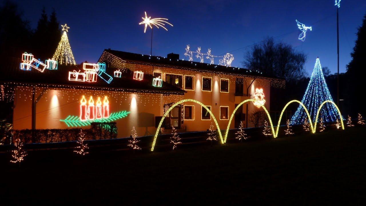 Haus Weihnachtsbeleuchtung.Haus Weihnachtsbeleuchtung Lichtshow