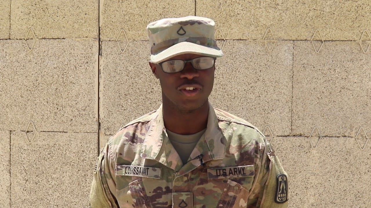 IN NEW JERSEY A BLACK SOLDIER HONORS HIS MOTHER ON MOTHER'S DAY