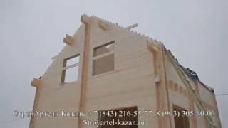 Двойной брус. Построить Дом под ключ. Видео Обзор первого этажа дома и скрытой электрики.
