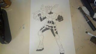 Speed drawing Kenji narukami (Ryukendo)
