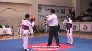 48kg Mert Erdogan - Mekiksah Ozturk (Turkish Junior Taekwondo Championships 2012)