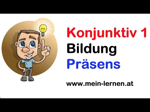 konjunktiv 1 pr sens gegenwart bildung youtube. Black Bedroom Furniture Sets. Home Design Ideas
