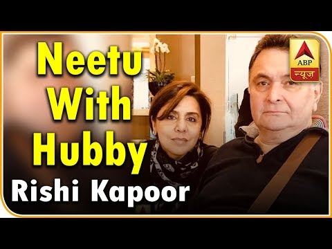 HILARIOUS ! Neetu Kapoor's Latest Selfie With Hubby Rishi Will Make You Laugh!   ABP News