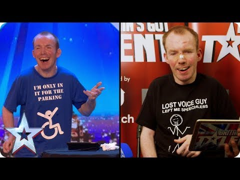 Lost Voice Guy reacts to his Audition | Britain's Got Talent