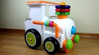 Развивающие игры для детей с игрушками - Собираем паровозик.Мультики для маленьких: МАЛЫШИ.