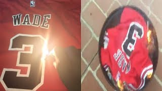 Bulls Fan TRIES to Burn Dwyane Wade Jersey, Makes Hilarious Excuse Why He Couldn