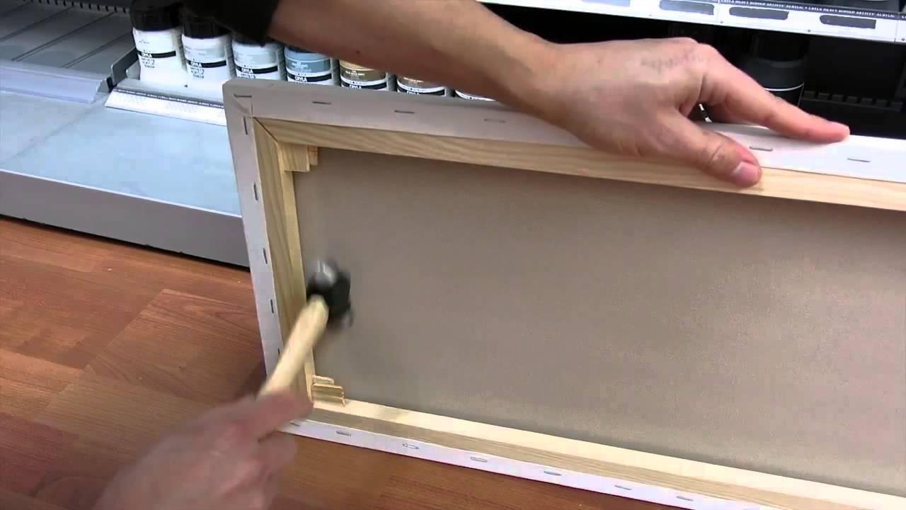 Daler Rowney Canvas Stretch Jackson S Art Supplies Youtube