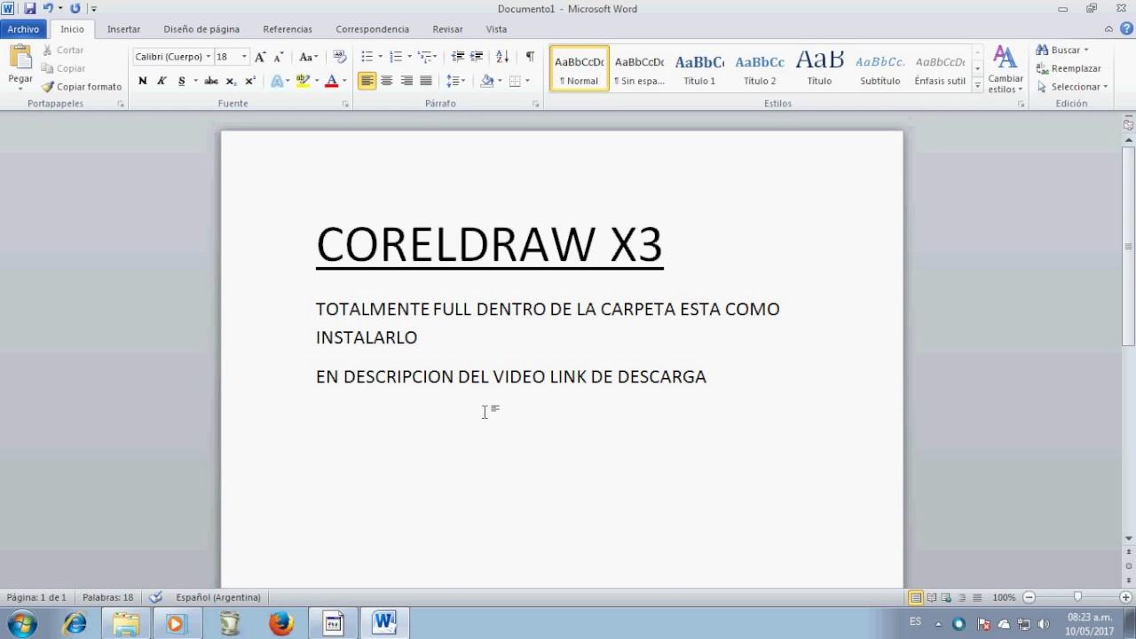 corel draw x8 descargar gratis taringa