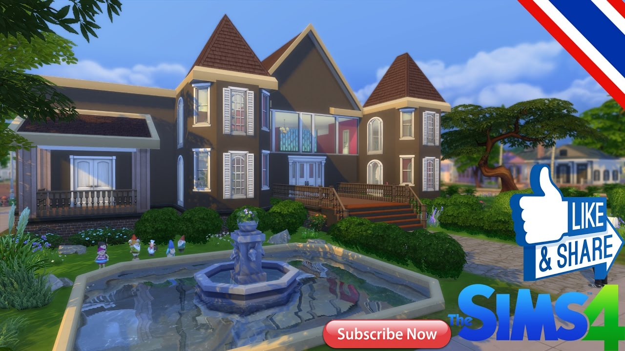 The sims 4 สร้างบ้าน ตามใจฉัน #12