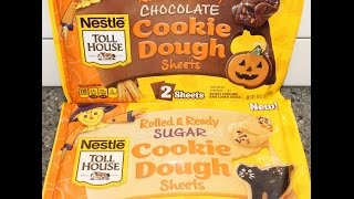 Using Nestle Toll House Rolled & Ready Cookie Sheets For Thanksgiving Cookies