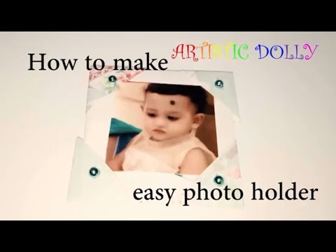 Easy DIY Paper Photo Holder/ How to make Photo Frame at home/ Mini Photo frames wall decor at home