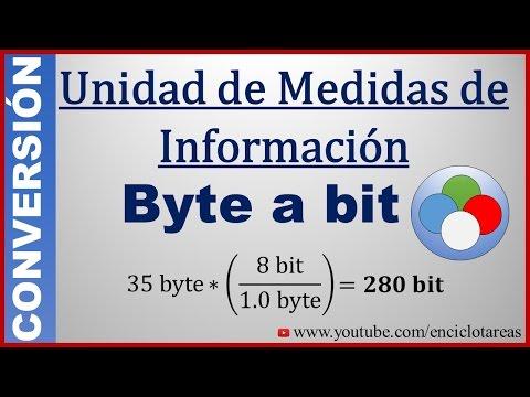 Convertir de Byte (B) a Bit - (B a bit)