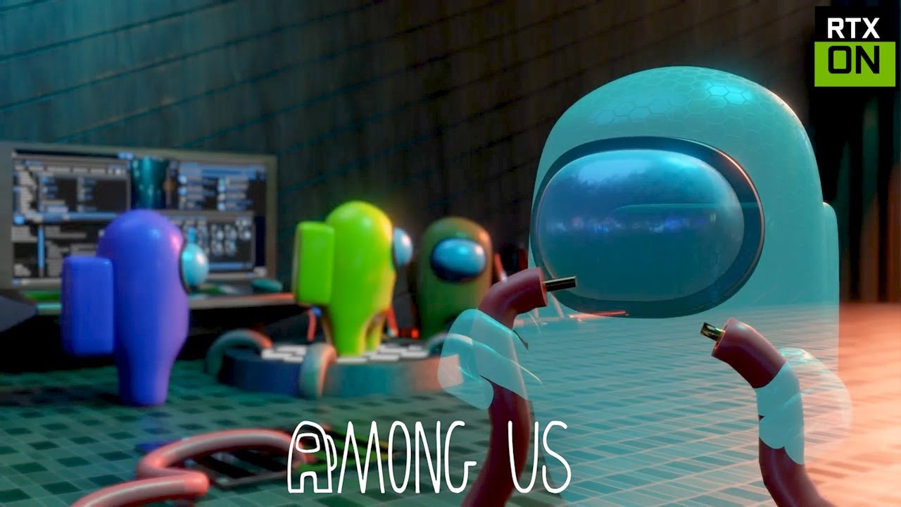 Among Us RTX On EP12 ( Ghost Impostor ) - 3D Animation
