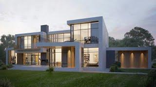 Уникальный Дом с плоской крышей | Плоская крыша в частном доме и проекты с плоской крышей | RH-456