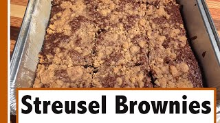 Streusel Brownies | Homemade Brownies With A Streusel Topping