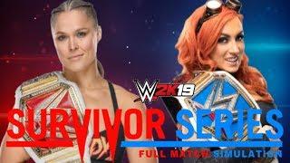 Ronda Rousey vs Becky Lynch   Survivor Series   Full Match Simulation