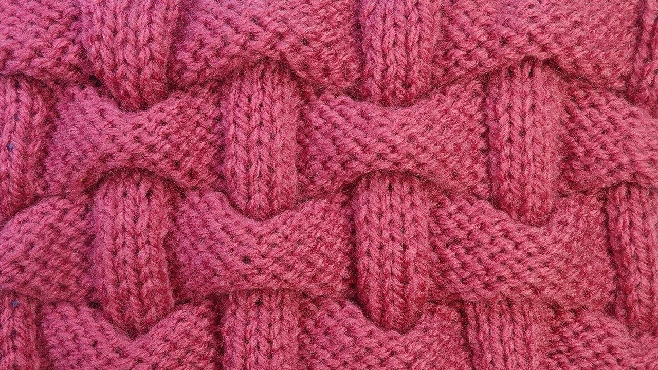 обалденный узор для шапки узор вязание спицами клоке 38 Youtube