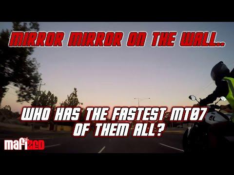 MT07 Vs MT07 Vs 650F Vs GSXR 750 Drag Racing