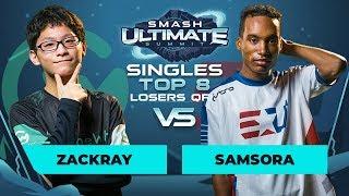 zackray vs Samsora - Singles Top 8: Losers' Quarterfinal - Smash Ultimate Summit | Wolf vs Peach