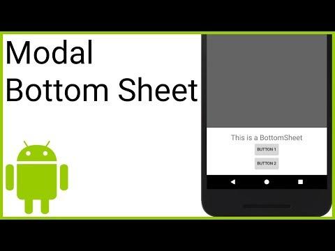 Modal Bottom Sheet - Android Studio Tutorial - YouTube