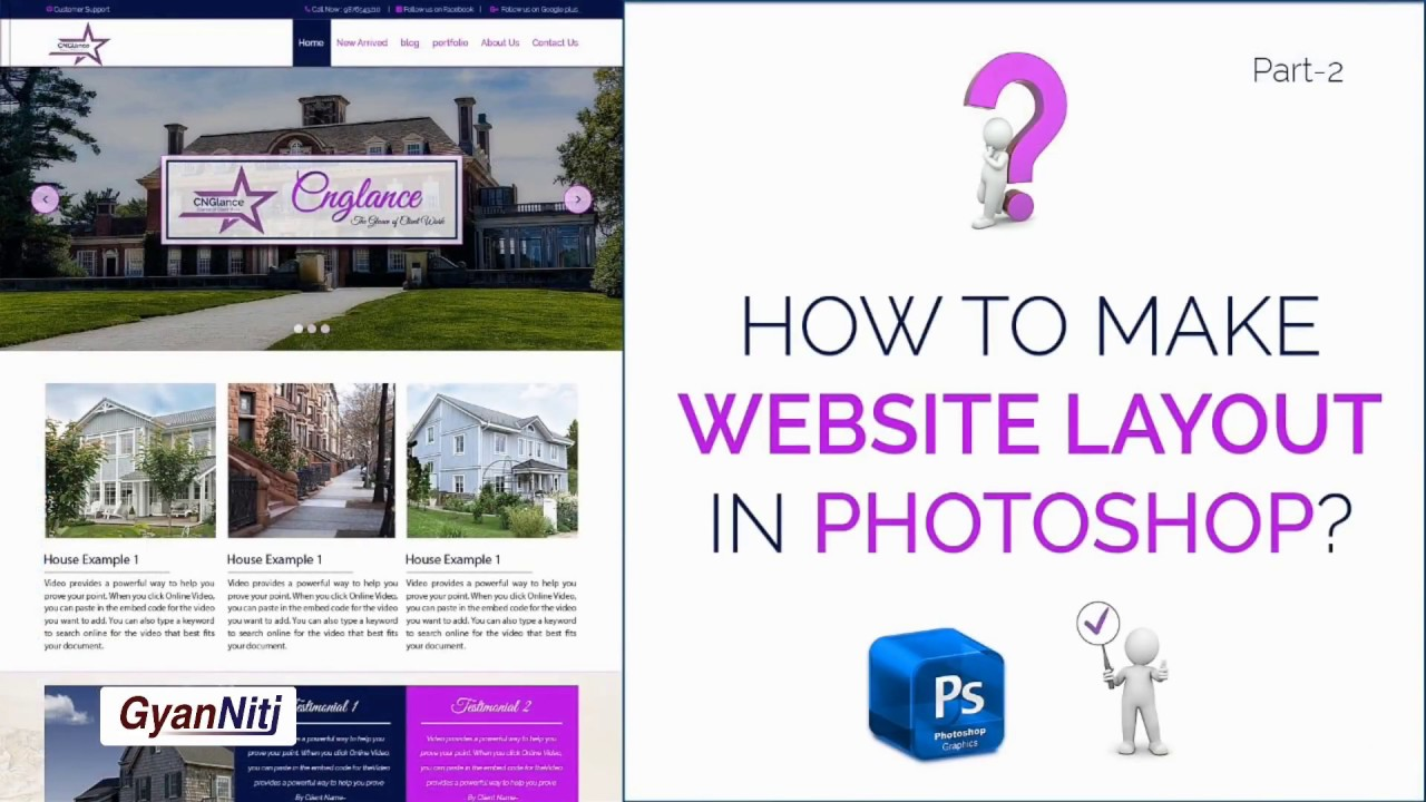 How to website layout in Photoshop | How to design Website layout in Photoshop | Part-2