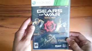 Gears of War - Triple Pack - Xbox 360 - Unboxing - En Español