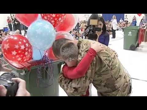Soldier Surprises Son