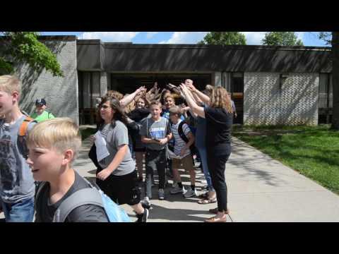 Teachers send off Jamestown Elementary students on last day of school