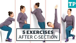 exercises for after a c section