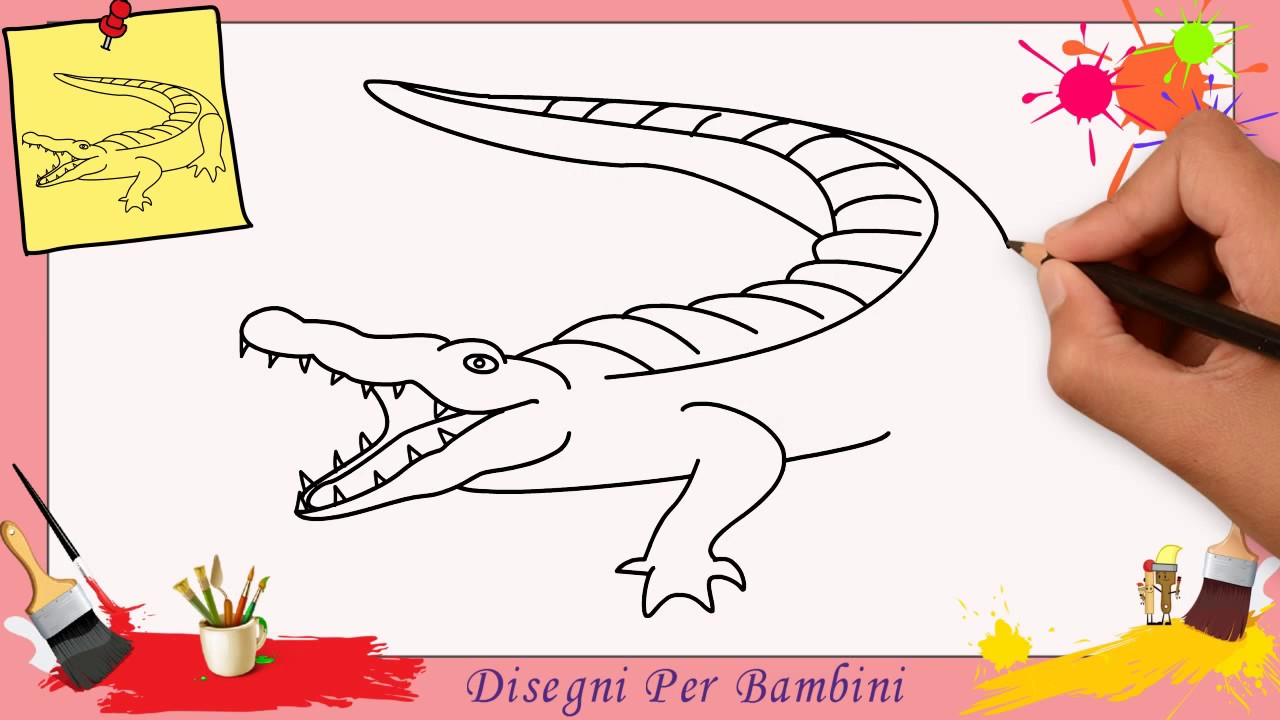 Come Disegnare Un Coccodrillo Facile Passo Per Passo Per Bambini