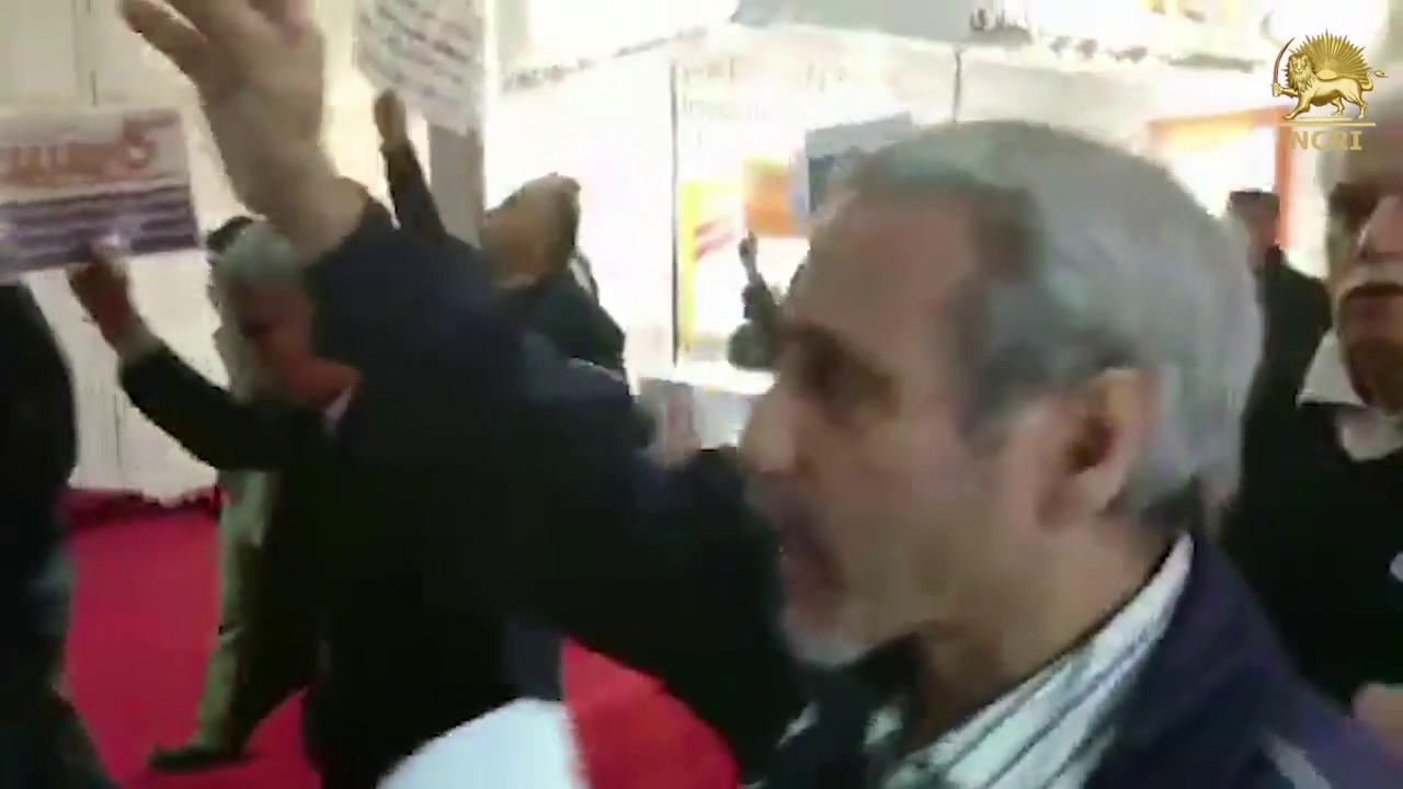 Iran: Protest of plundered victims of non-authorized entities at the Stock Exchange exhibition