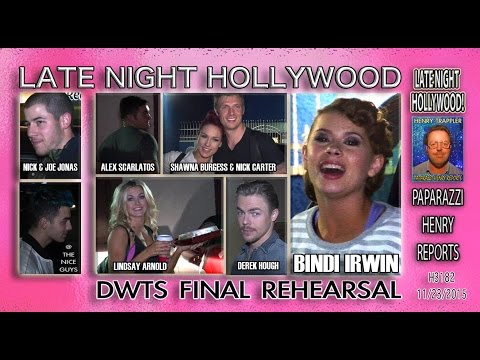 3 DWTS Finalists Bindi Irwin & Derek Hough, Alex Scarlatos, Nick Carter