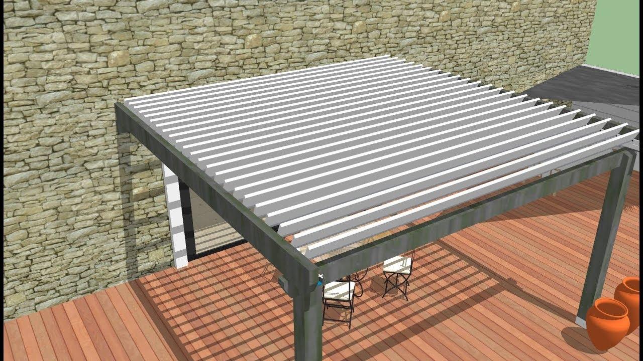 kit lame orientable easylam la pergola bois. Black Bedroom Furniture Sets. Home Design Ideas