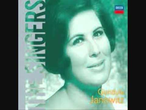 """Gundula Janowitz singing Schubert lieder """" Im Freien"""""""