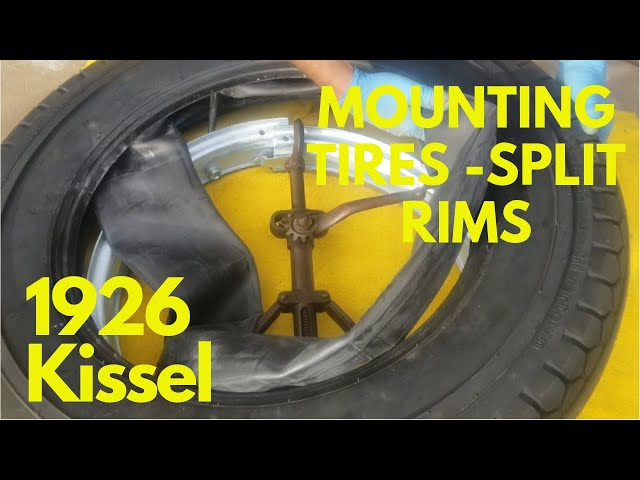 How to Mount Tires on Split Rims - 1926 Kissel 6-55 Brougham - Part 13