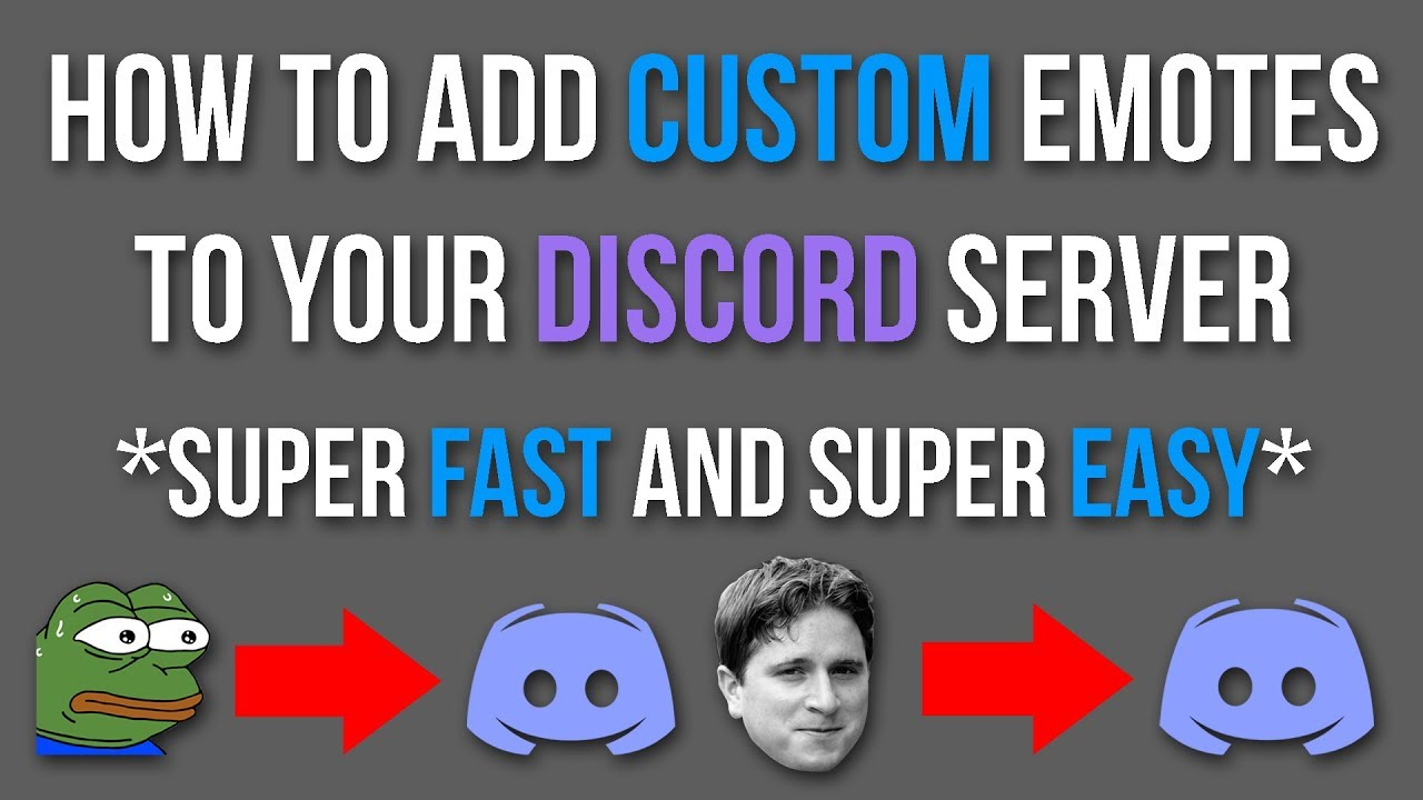 How To Add Custom Emotes To Your Discord Server! *FAST AND EASY* - Tutorial